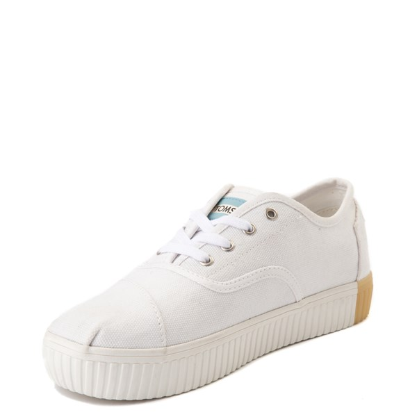alternate view Womens TOMS Cordones Indio Platform Casual Shoe - WhiteALT3