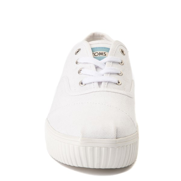 alternate view Womens TOMS Cordones Indio Platform Casual Shoe - WhiteALT4