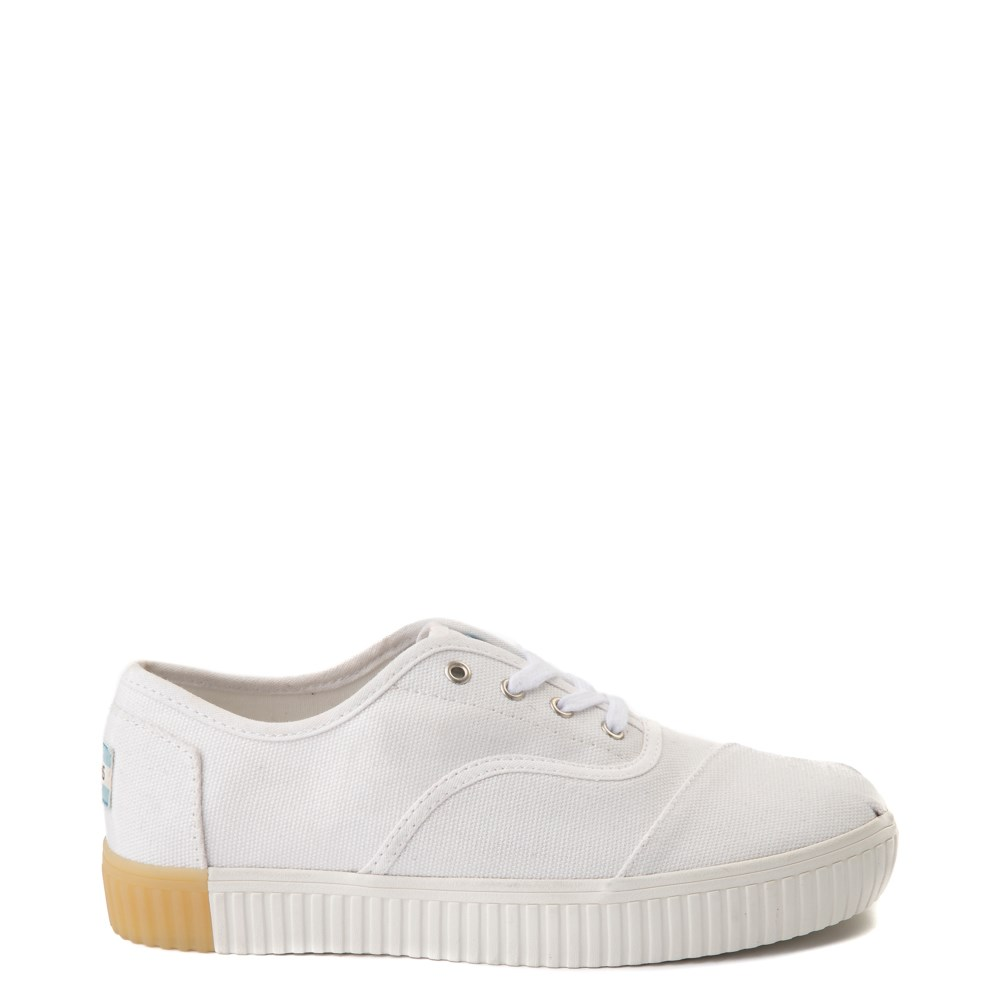 Womens TOMS Cordones Indio Platform Casual Shoe - White