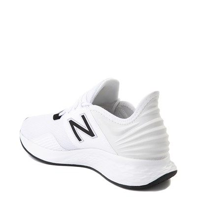 Alternate view of Womens New Balance Fresh Foam Roav Athletic Shoe - White / Black