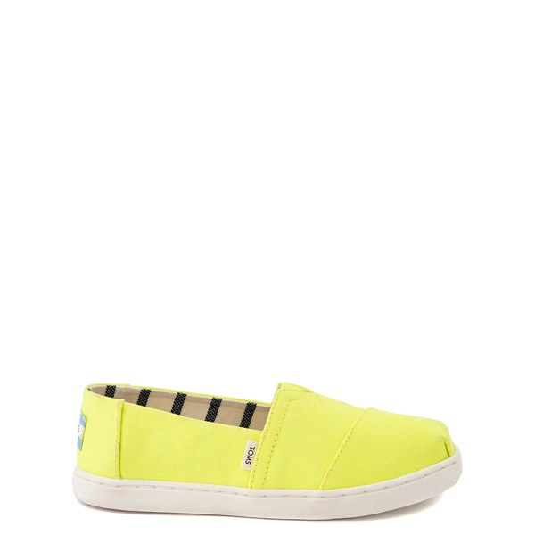Main view of TOMS Classic Slip On Casual Shoe - Little Kid / Big Kid - Neon Yellow