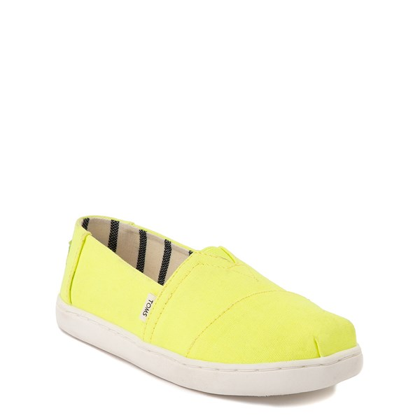 alternate view TOMS Classic Slip On Casual Shoe - Little Kid / Big Kid - Neon YellowALT1