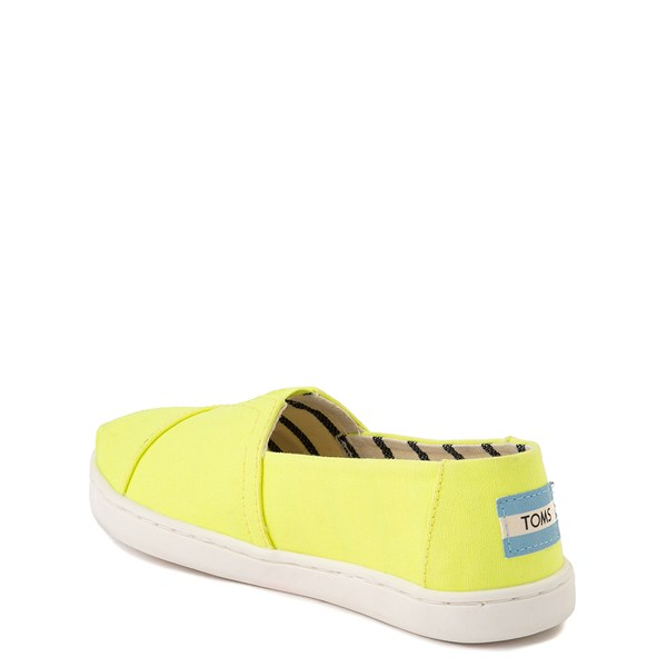 alternate view TOMS Classic Slip On Casual Shoe - Little Kid / Big Kid - Neon YellowALT2