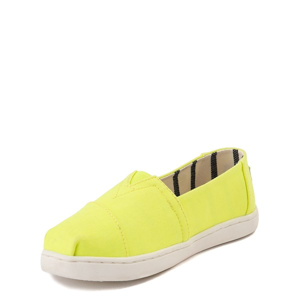 alternate view TOMS Classic Slip On Casual Shoe - Little Kid / Big Kid - Neon YellowALT3