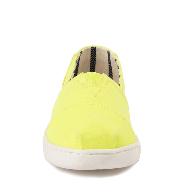 alternate view TOMS Classic Slip On Casual Shoe - Little Kid / Big Kid - Neon YellowALT4