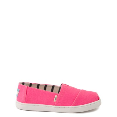Main view of TOMS Classic Slip On Casual Shoe - Little Kid / Big Kid - Neon Pink