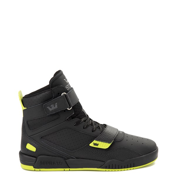 Mens Supra Breaker Hi Skate Shoe - Black / Lime