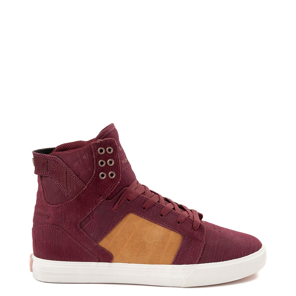 Mens Supra Skytop Hi Skate Shoe - Wine Red / Tan