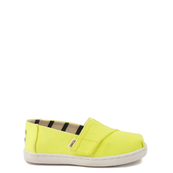 Main view of TOMS Classic Slip On Casual Shoe - Baby / Toddler / Little Kid - Neon Yellow