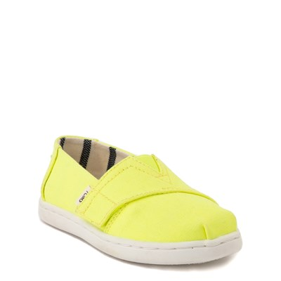 Alternate view of TOMS Classic Slip On Casual Shoe - Baby / Toddler / Little Kid - Neon Yellow