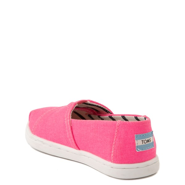 alternate view TOMS Classic Slip On Casual Shoe - Baby / Toddler / Little Kid - Neon PinkALT2