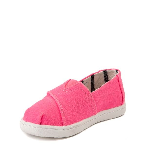alternate view TOMS Classic Slip On Casual Shoe - Baby / Toddler / Little Kid - Neon PinkALT3