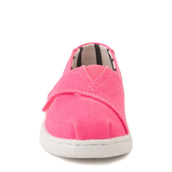 alternate view TOMS Classic Slip On Casual Shoe - Baby / Toddler / Little Kid - Neon PinkALT4