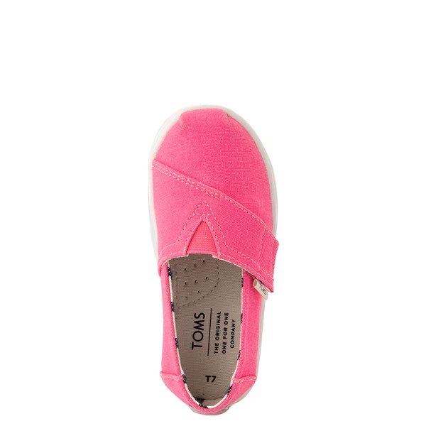 alternate view TOMS Classic Slip On Casual Shoe - Baby / Toddler / Little Kid - Neon PinkALT4B