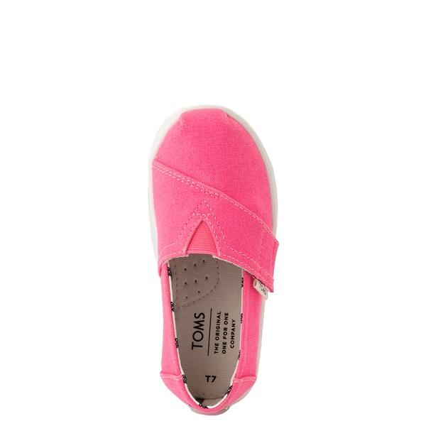alternate view TOMS Classic Slip On Casual Shoe - Baby / Toddler / Little Kid - Neon PinkALT4B