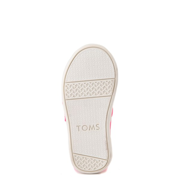 alternate view TOMS Classic Slip On Casual Shoe - Baby / Toddler / Little Kid - Neon PinkALT5