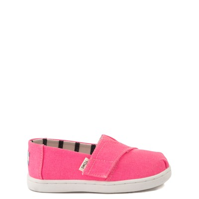 Main view of TOMS Classic Slip On Casual Shoe - Baby / Toddler / Little Kid - Neon Pink
