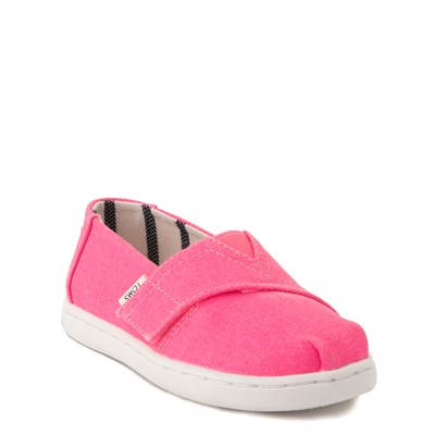 Alternate view of TOMS Classic Slip On Casual Shoe - Baby / Toddler / Little Kid - Neon Pink