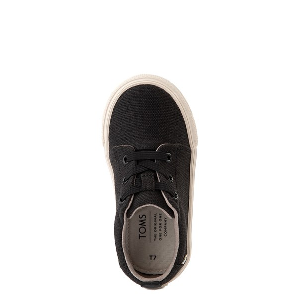 alternate view TOMS Carlito Casual Shoe - Baby / Toddler / Little Kid - BlackALT4B