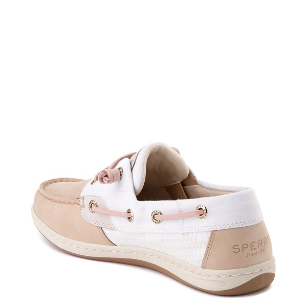 alternate view Womens Sperry Top-Sider Songfish Boat Shoe - Ivory / RoseALT1