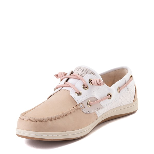 alternate view Womens Sperry Top-Sider Songfish Boat Shoe - Ivory / RoseALT2
