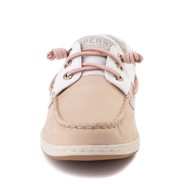 alternate view Womens Sperry Top-Sider Songfish Boat Shoe - Ivory / RoseALT4