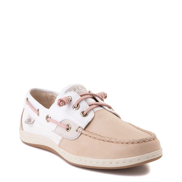 alternate view Womens Sperry Top-Sider Songfish Boat Shoe - Ivory / RoseALT5