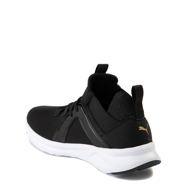 alternate view Puma Enzo Athletic Shoe - Little Kid - Black / GoldALT1