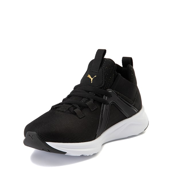 alternate view Puma Enzo Athletic Shoe - Little Kid - Black / GoldALT2