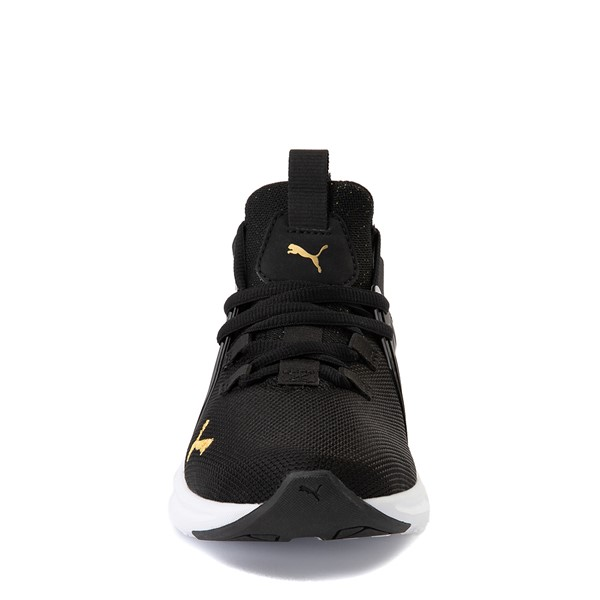 alternate view Puma Enzo Athletic Shoe - Little Kid - Black / GoldALT4