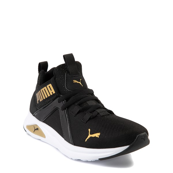 alternate view Puma Enzo Athletic Shoe - Little Kid - Black / GoldALT5