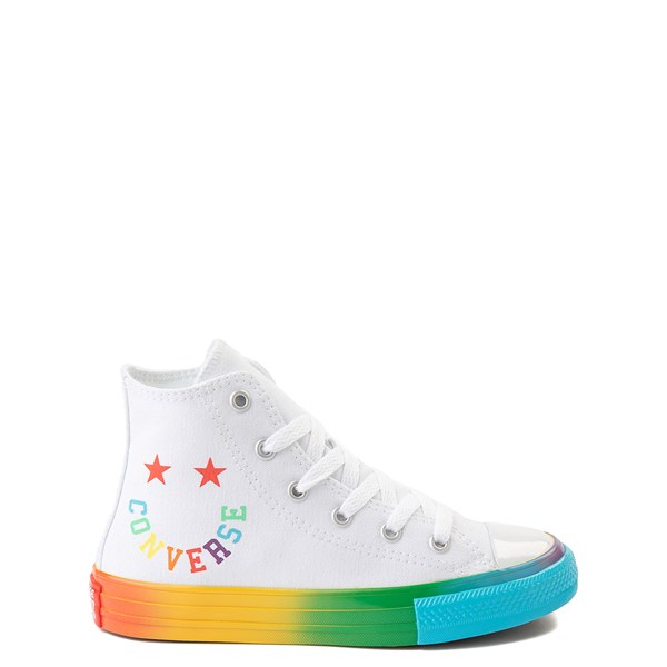 Main view of Converse Chuck Taylor All Star Hi Smiley Sneaker - Little Kid - White / Multi