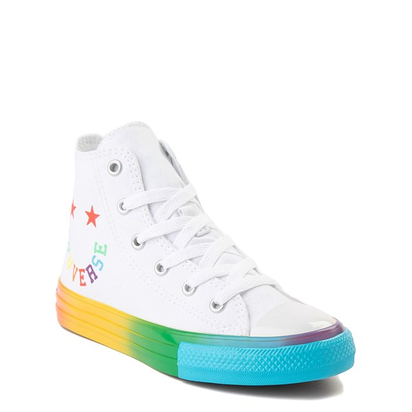 alternate view Converse Chuck Taylor All Star Hi Smiley Sneaker - Little Kid - White / MultiALT1B