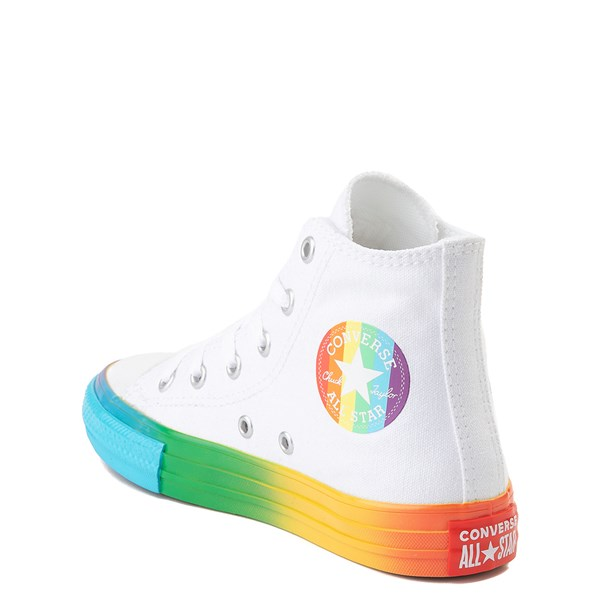 alternate view Converse Chuck Taylor All Star Hi Smiley Sneaker - Little Kid - White / MultiALT2