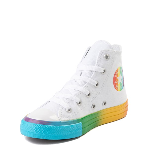 alternate view Converse Chuck Taylor All Star Hi Smiley Sneaker - Little Kid - White / MultiALT3
