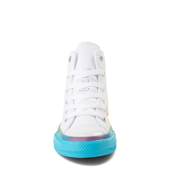 alternate view Converse Chuck Taylor All Star Hi Smiley Sneaker - Little Kid - White / MultiALT4