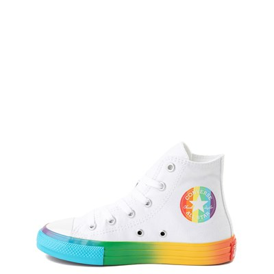 Alternate view of Converse Chuck Taylor All Star Hi Smiley Sneaker - Little Kid - White / Multi