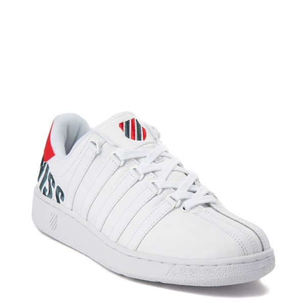 alternate view Mens K-Swiss Classic VN XL Logo Athletic Shoe - White / RedALT1