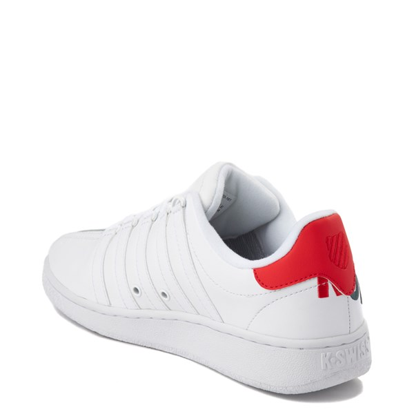 alternate view Mens K-Swiss Classic VN XL Logo Athletic Shoe - White / RedALT2