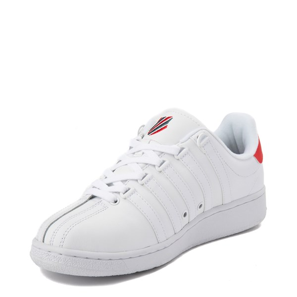 alternate view Mens K-Swiss Classic VN XL Logo Athletic Shoe - White / RedALT3