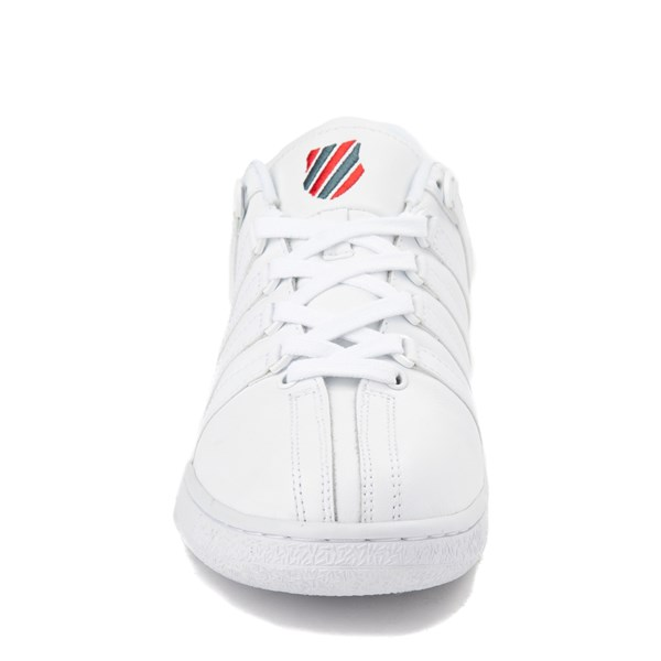 alternate view Mens K-Swiss Classic VN XL Logo Athletic Shoe - White / RedALT4