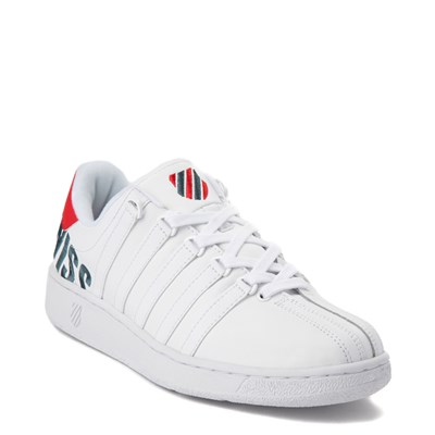 Alternate view of Mens K-Swiss Classic VN XL Logo Athletic Shoe - White / Red