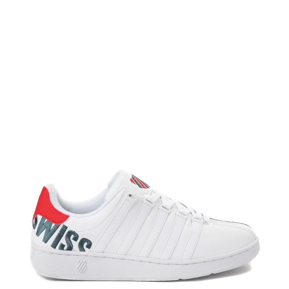 Mens K-Swiss Classic VN XL Logo Athletic Shoe - White / Red