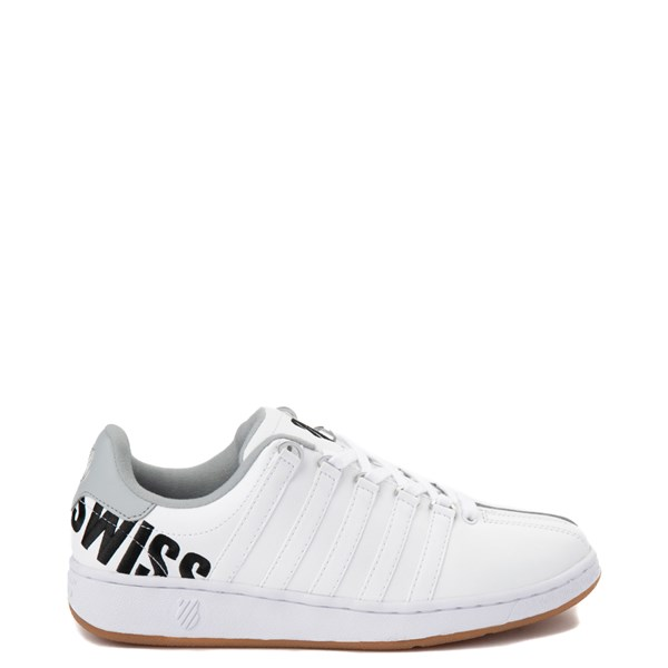 Mens K-Swiss Classic VN XL Logo Athletic Shoe - White / Charcoal