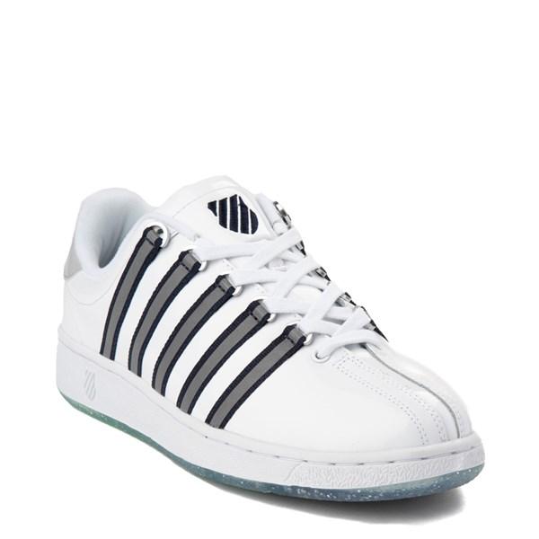 alternate view Mens K-Swiss Classic VN Premium Athletic Shoe - White / Silver / NavyALT1