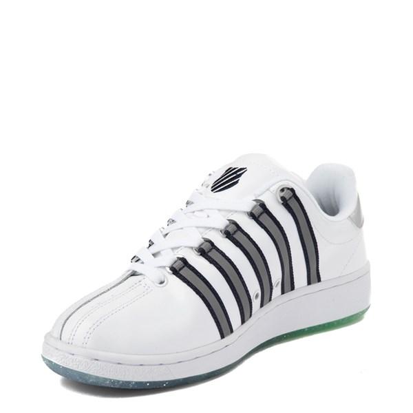 alternate view Mens K-Swiss Classic VN Premium Athletic Shoe - White / Silver / NavyALT3