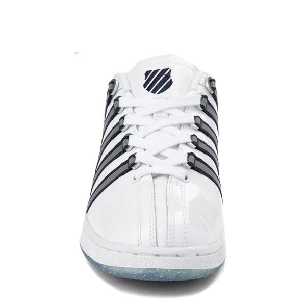 alternate view Mens K-Swiss Classic VN Premium Athletic Shoe - White / Silver / NavyALT4