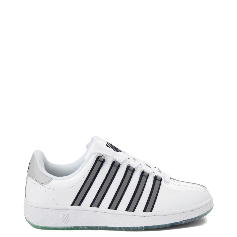 Mens K-Swiss Classic VN Premium Athletic Shoe - White / Silver / Navy