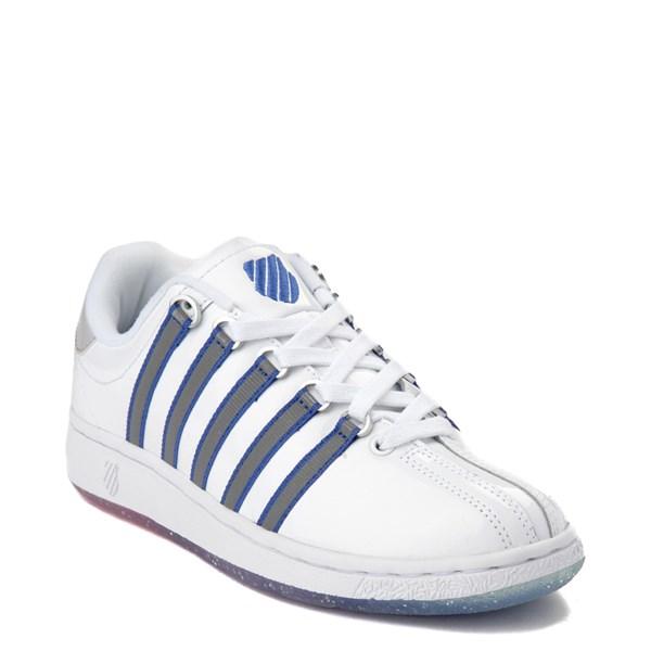 alternate view Womens K-Swiss Classic VN Premium Athletic Shoe - White / Silver / NavyALT1