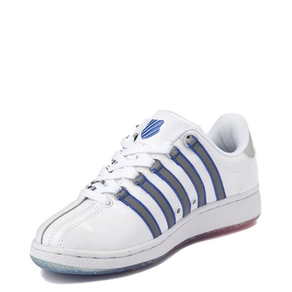 alternate view Womens K-Swiss Classic VN Premium Athletic Shoe - White / Silver / NavyALT3
